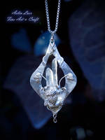 Faer Tuiw elven silver pendant by Gwillieth