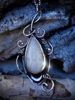 Moon vines silver talisman by Gwillieth