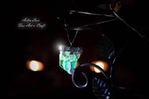 Silver talisman Well of Vitality by Gwillieth