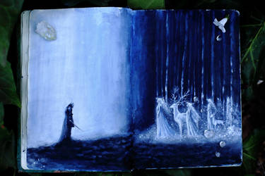 celtic sketchbook the Sluagh Sidhe by Gwillieth