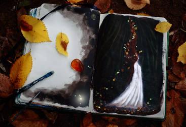 Autumn Sketch by Gwillieth