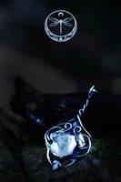 Gleaming Portal Silver Talisman by Gwillieth
