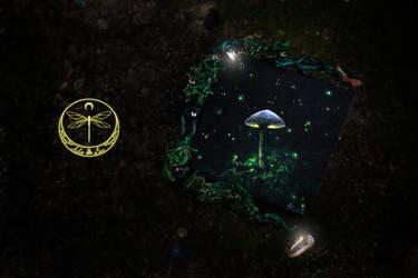 Mushroom Altar Painting by Gwillieth
