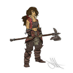 Human Barbarian by Skyserpent