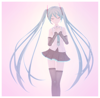V4x Miku (MikuMikuPositivity's Remake Project) by Beemz-P