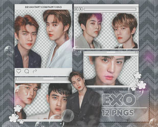 [PNG PACK #955] EXO - (Seasons Greetings 2019) by fairyixing