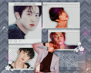 [PNGPACK#957]Chanyeol x Baekhyun - EXO (LOVE SHOT) by fairyixing