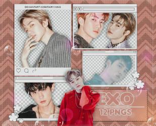 [PNG PACK] EXO - (LOVE SHOT) by fairyixing