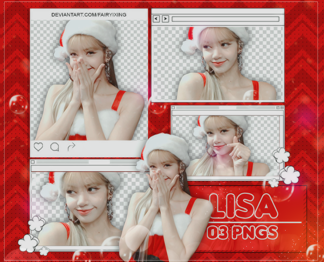PNG PACK] LISA - BLACKPINK (181224) by fairyixing on DeviantArt