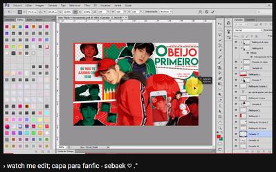 + watch me edit: capa para fanfic | sebaek by fairyixing