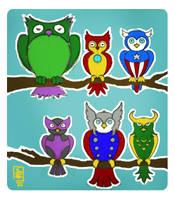 Avengers Owls by TokisMindPalace