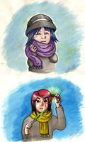 .Cuddly Scarf + Magical Hair. by mitani-chan