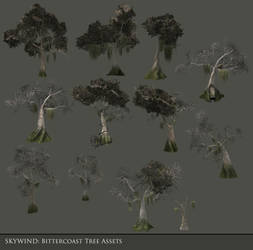 Bittercoast Tree Asset Batch by Ravanna7
