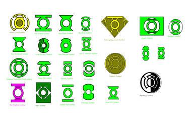 Green Lantern Symbols by kavinveldar