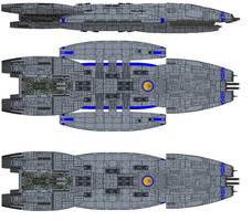Battlestar Cerberus by kavinveldar