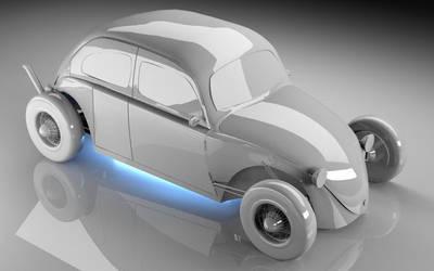 VW Beetle Hot Rod style by KaputtChino