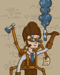 Steampunk Scientist by Avartaz