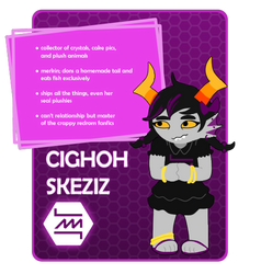 Trollcall Card Request - Cighoh Skeziz by LordPD