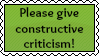 Give Constructive Criticism Stamp by ilovestampsalot