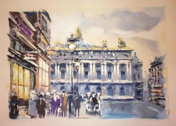 Paris.Opera Homage to Edouard Leon Cortes by AramN