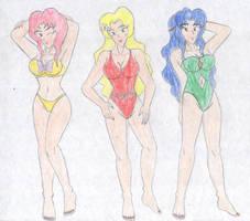 The Older Cerulean Sisters by FoxBluereaver