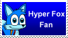 Hyper Fox Fan Stamp by Makatoons