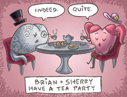 Brian and Sherry Tea Party by kittychasesquirrels