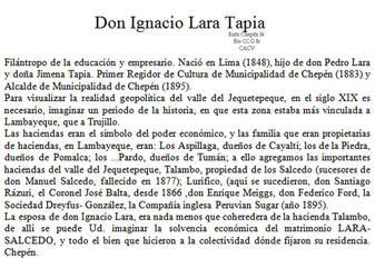 1883 Don Ignacio Lara Tapia by Chepen-Ruta