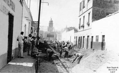 1960 (71) 1960-65 Trabajo de alcantarillado en Cal by Chepen-Ruta