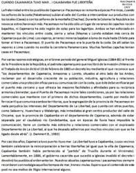 1885 Cuando Cajamarca tenia Mar y Cajabamba fue Li by Chepen-Ruta