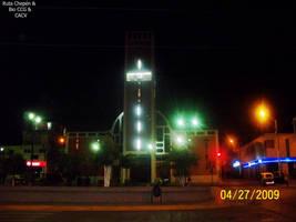 57d3 2009 Iglesia San Sebastian frontis noche by Chepen-Ruta