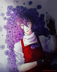 Keithtober2k18 Day 5: Florist AU by JeiGoWAY