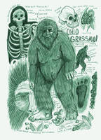 Grassman (Eastern Bigfoot) Anatomy Sketch Page by Kway100