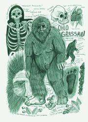 Grassman (Eastern Bigfoot) Anatomy Sketch Page by Kway100