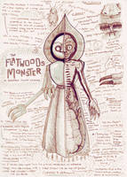 Flatwoods Monster Anatomy Study Drawing by Kway100
