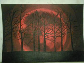 Red moon by GokkiVanGogh