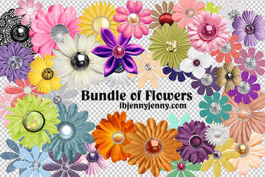 Free Bundle of PSD Flowers (44 in all) by ibjennyjenny