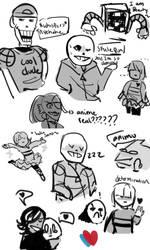 Undertale sketch dump by Dapseii