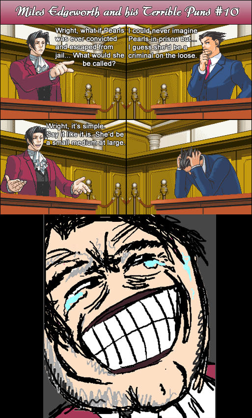 Miles Edgeworth and His Terrible Puns #10 by DarkMatter89