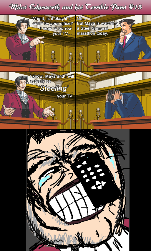 Miles Edgeworth and His Terrible Puns #15 by DarkMatter89
