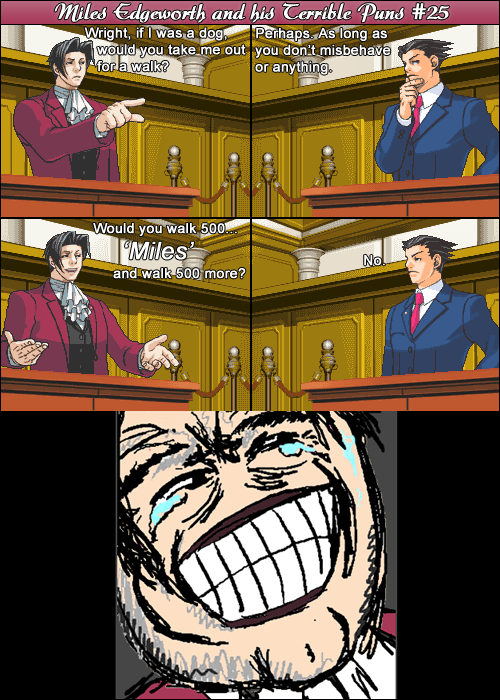 Miles Edgeworth and His Terrible Puns #25 by DarkMatter89