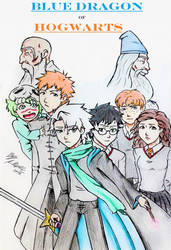 Blue Dragon of Hogwarts Cover by amanda040