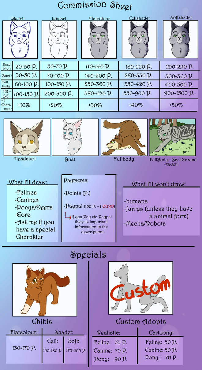 COMMISSION SHEET [DECEMBER COMMISSIONS OPEN) by DragonightDraws