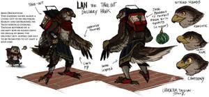 Lan the Take-Out Hawk by TeaDino