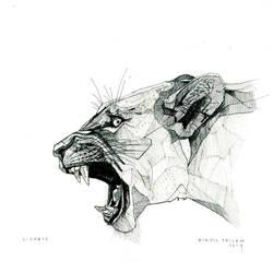 1405 Animals Lioness Dark by nikhiltricam