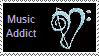Music Addict Stamp by LoneWolfLove