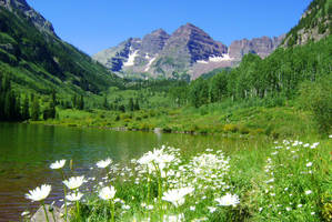 Summer at Maroon Bells by xanadian