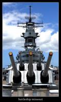 battleship missouri by xanadian