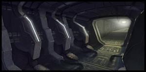 Sci-fi Corridor by C0nstantini