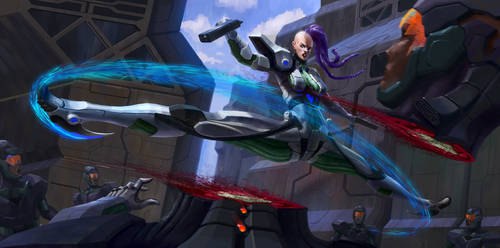 -Spinning Laser Kick- by C0nstantini